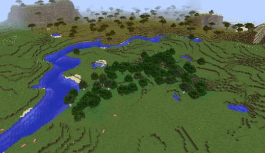 【マイクラ】木をたくさん伐採する 一生分の木が欲しい!