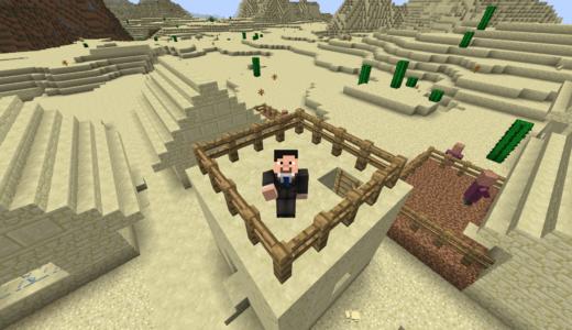 【マイクラ】砂漠村を訪問!またまた新村も