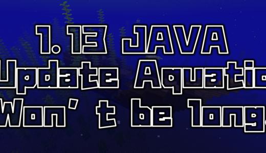 【マイクラ】Java版1.13の水のアップデートは間もなく来るかも!!!