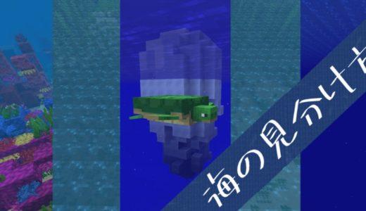 【マイクラ】5種ある海バイオームの種類を簡単に見分ける2つの方法